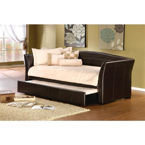 couch trundle hillsdale furniture montgomery brown trundle day bed