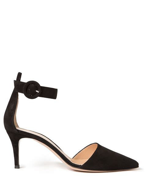 ankle kitten heels gianvito ankle kitten heels in black lyst