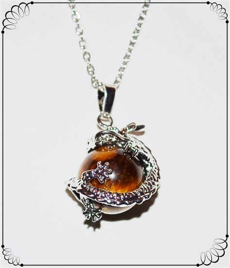 tigerseye pendant necklace fear protection