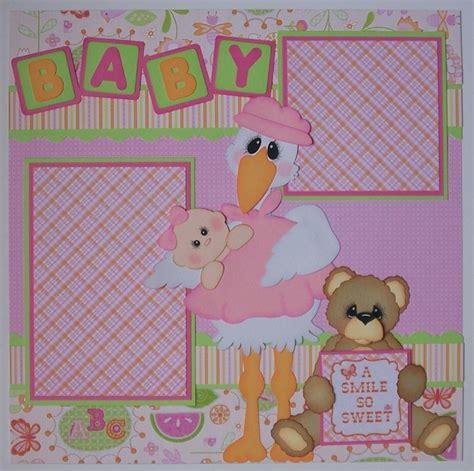 layout scrapbooking baby blj graves studio baby girl scrapbook layout