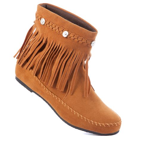 moccasin boots karyn ankle boots moccasin high top shoes fringe