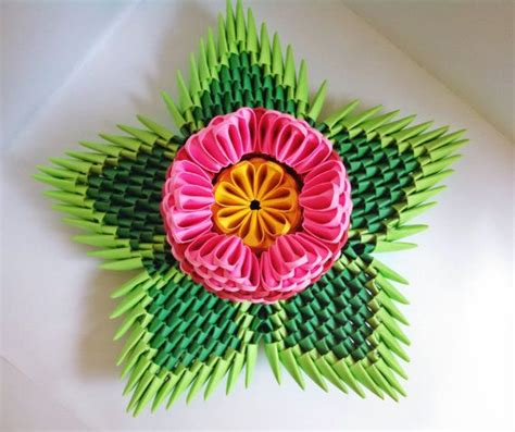 Origami 3d Flower - 1000 images about block folding on origami