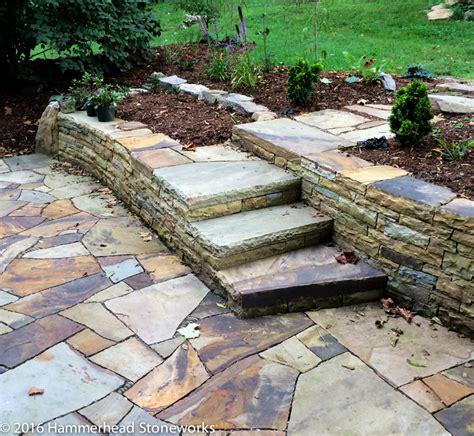 flagstone backyard flagstone paths patios hammerhead stoneworkshammerhead