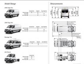 Mercedes Sprinter Height Mercedes Sprinter Dimensions Images Sprinter