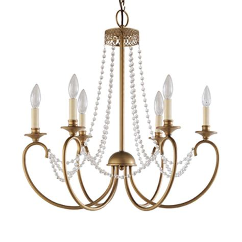 hton bay estelle 6 light gold hanging chandelier
