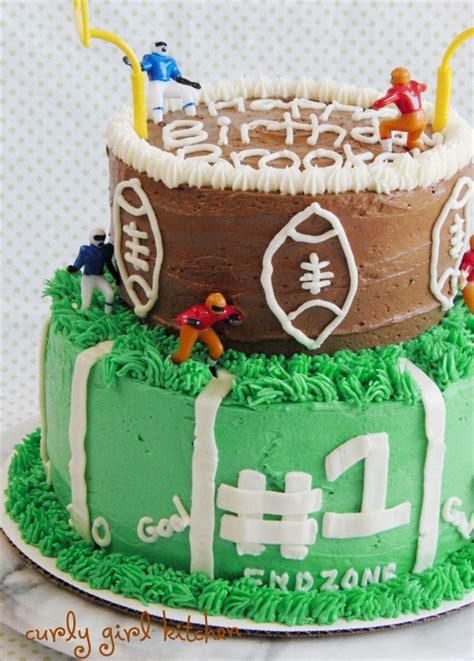 curly girl kitchen  football cake  brooks  birthday