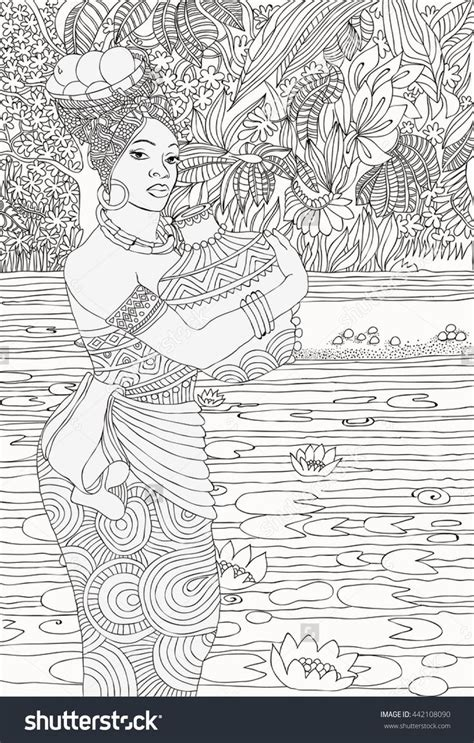 african landscape coloring page 8381 best people of sorts to color images on pinterest