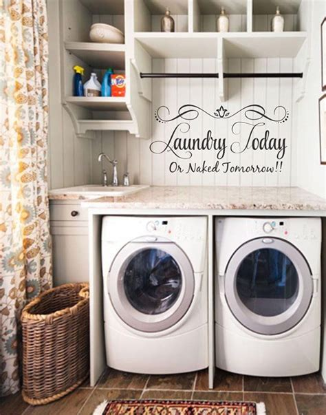 laundry room wall decor ideas 17 best ideas about laundry shelves on