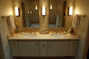stylish decoration bathroom with double sink vanity and faucets contemporary powder room idea other vessel