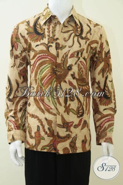 Kemeja Batik Sogan Genes toko kemeja batik pejabat motif burung hong untuk kemeja