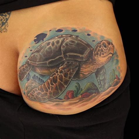 tattoo masters seat turtle cover up by artist halo from ink