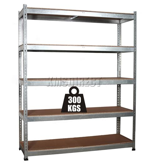 5 tier boltless galvanised heavy duty garage storage