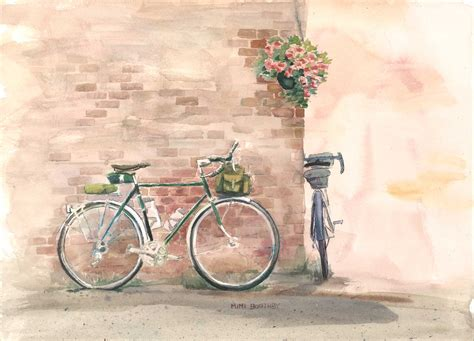 bike painting august 187 2012 187 watercolors by mimi torchia boothby
