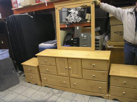knotty pine bedroom suite dresser stands headboard