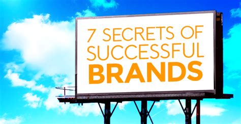 7 Secrets Of Successful by 7 Simple Secrets Of Successful Brands Bold Fearless
