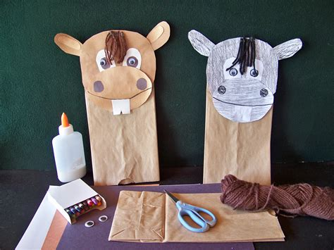 How To Make A Paper Bag Puppet Of A Person - day 4 crafts arrowskidsclub page 2