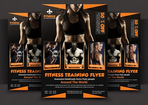 templates bodybuilder for photoshop download 20 fitness flyer template psd for fitness center gym and