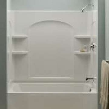 Joint Insert Cheminée 288 by Sterling Plumbing Ensemble Curved Wallset Wht Kight Home