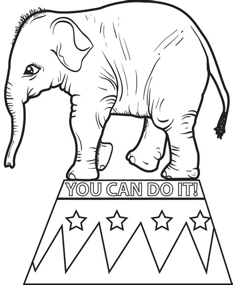 circus coloring pages preschool free printable circus elephant coloring page for kids 2