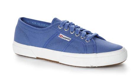 superga unisex 2750 cotu classic blue canvas trainers