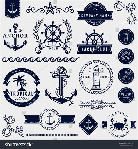 sailors language a collection of sea terms and their definitions classic reprint books set of sea and nautical decorations isolated on white