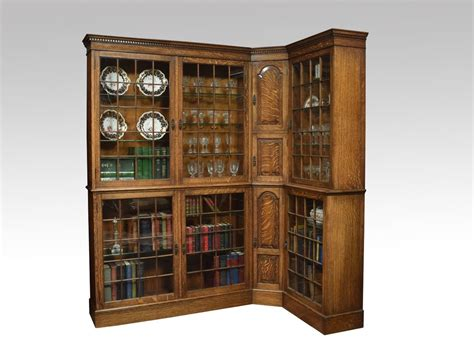 oak corner bookcase antiques atlas