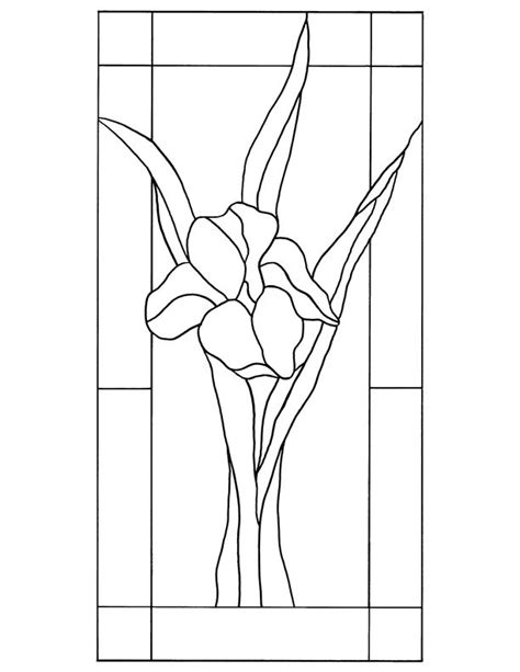 Leaded Glass Vase Stained Glass Patterns For Free Glass Pattern 109