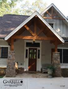 Cottage Style Chandelier The Walkers Cottage House Plan 11137 Front Entrance