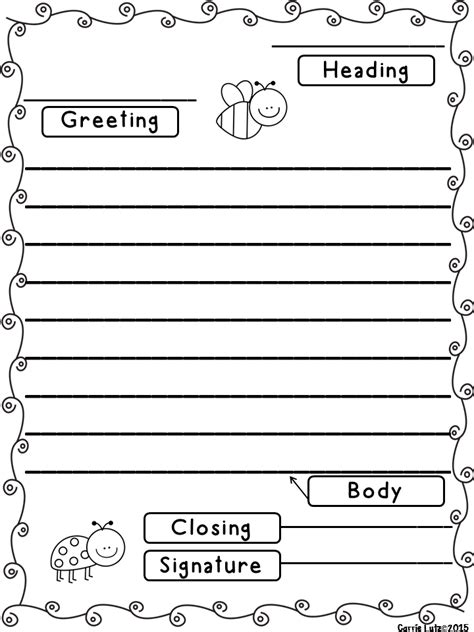 friendly letter template friendly letter templates with envelope with the 5 parts