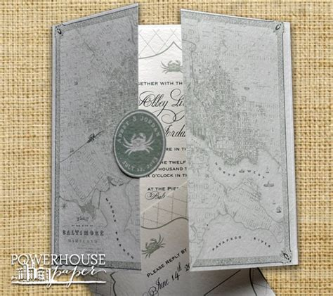 Wedding Invitations Baltimore by Baltimore Vintage Map Wedding Invitation Diy We