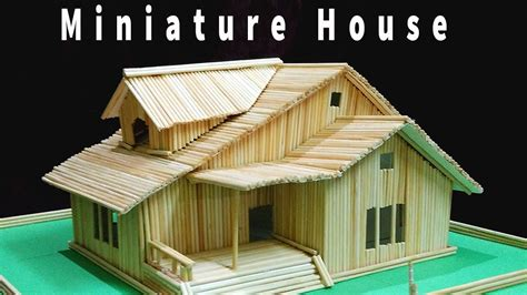 miniature homes models how to make miniature house with skewers bamboo sticks diy