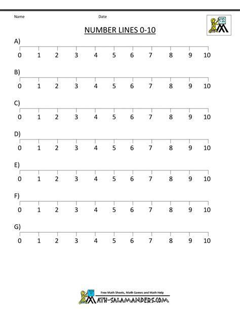 printable number line for decimals integer number line