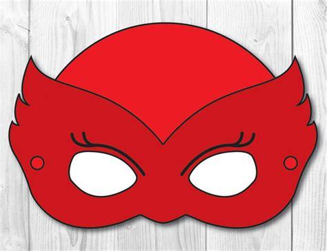 printable owlette mask owlette diy face mask instant download paper printable