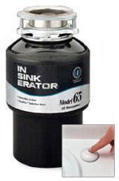 In Sink Erator Garbage Disposal by In Sink Erator 0 65hp Model65 Garbage Disposal For 220