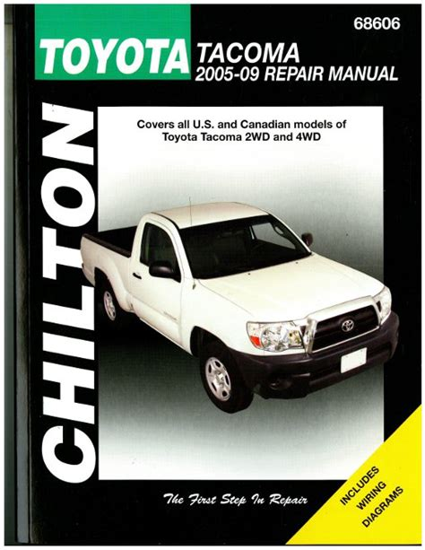 chilton 2005 2009 toyota tacoma repair manual