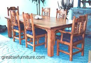 Southwest Dining Room Furniture Mission Southwest Style Dining Set Tables Chairs China Cabinets
