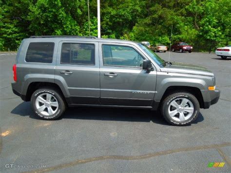 gray jeep patriot mineral gray metallic 2012 jeep patriot sport 4x4 exterior