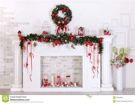 decor images decoration with fireplace stock image image