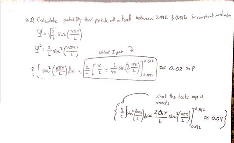 problem with a wavefunction in quantum mechanics math book solution possibly wrong