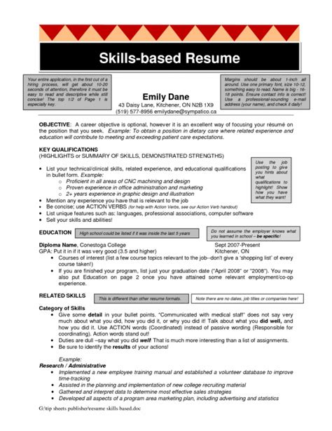 Skills Based Resume by Skills Based Resume Template Health Symptoms And Cure
