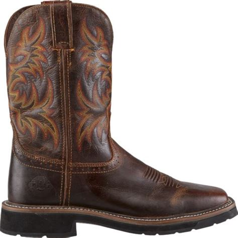 justin s stede square toe work boots academy