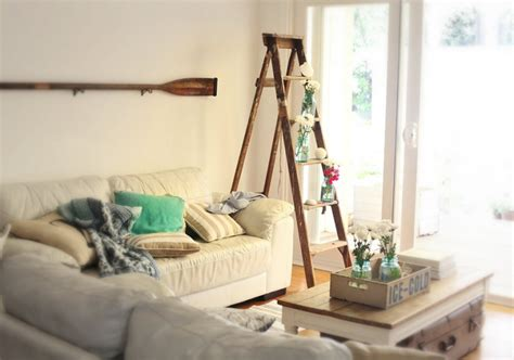 Kitchen Centerpiece Ideas by Beach Cottage Diy Decor How To Decorate Vintage Ladders