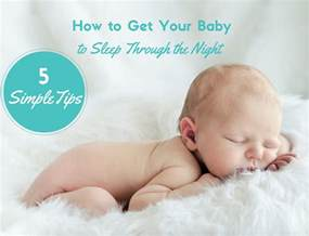 how to get baby to sleep through the sleep baby