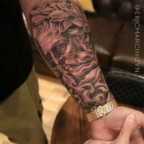 god tattoos on arm amazing mythology ideas center