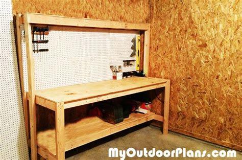 diy workbench  peg board myoutdoorplans