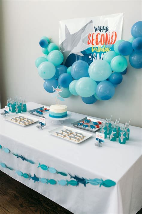karas party ideas chomp shark themed birthday party karas party ideas