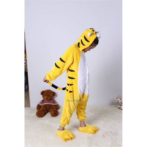 Animal Onesie Pajama animal yellow tiger kigurumi onesie pajama