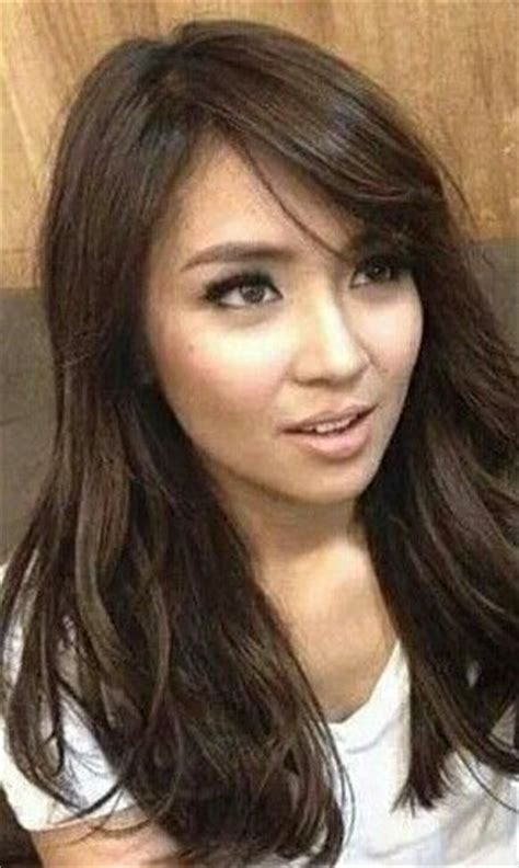 kathryn bernard short strait hair sided bangs layered hair kathryn bernardo hair make up