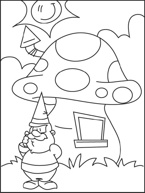 coloring page gnome coloring pages 5