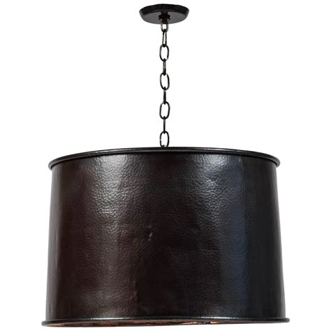 Drum Pendant Light Fixture Copper Drum Light Fixture At 1stdibs
